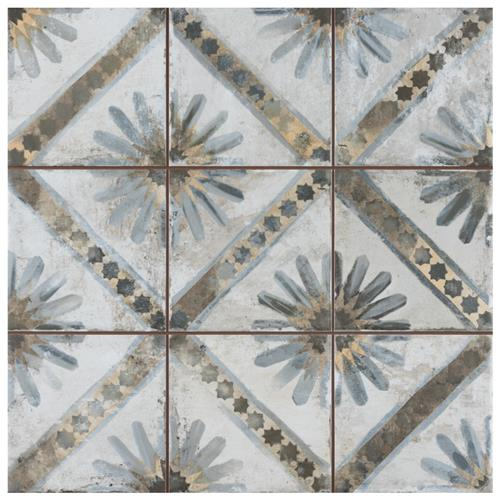 "Picture of Harmonia Kings Marrakech Blue 13""x13""Ceramic Floor/Wall Tile"