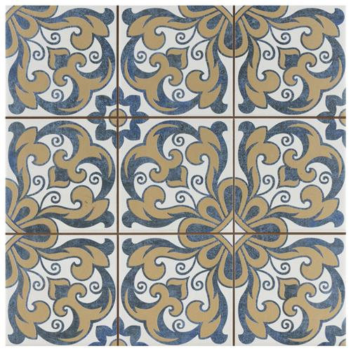 "Picture of Harmonia Royal Bloom 13""x13"" Ceramic Floor/Wall Tile"