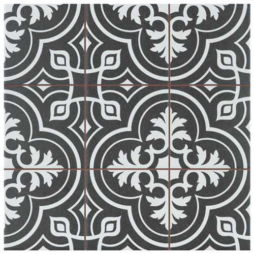 "Picture of Harmonia Vintage Black 13""x13"" Ceramic Floor/Wall Tile"