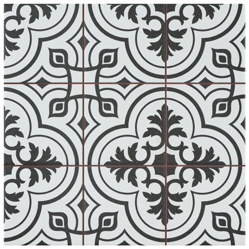 "Picture of Harmonia Vintage White 13""x13"" Ceramic Floor/Wall Tile"