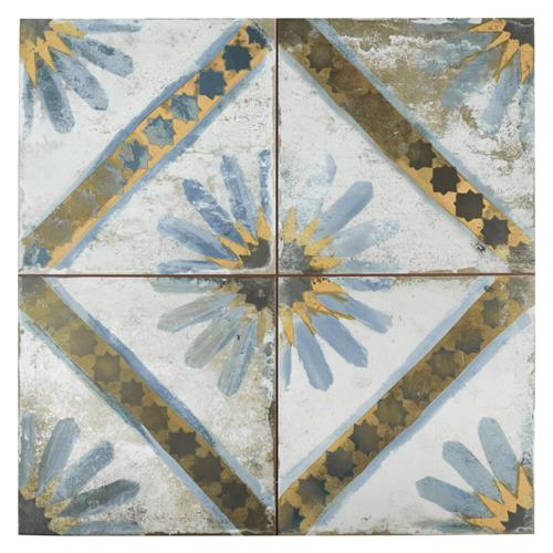 "Picture of Kings Marrakech Blue 17-5/8""x17-5/8"" Ceramic F/W Tile"