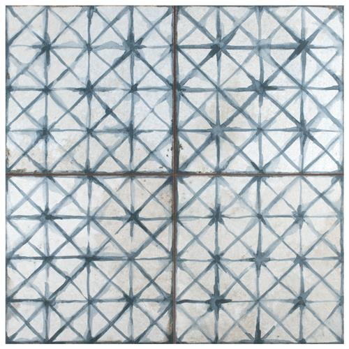 "Picture of Kings Temple Blue 17-5/8"" x 17-5/8"" Ceramic F/W Tile"