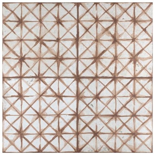 "Picture of Kings Temple Oxide 17-5/8"" x 17-5/8"" Ceramic F/W Tile"