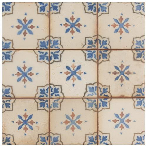 "Picture of Mirambel Azul 13""x13"" Ceramic F/W Tile"
