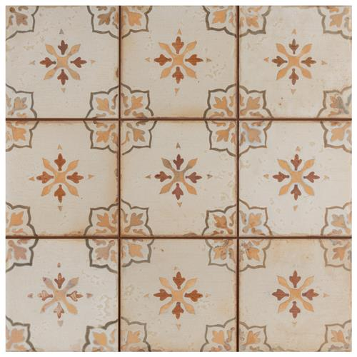 "Picture of Mirambel Marron 13""x13"" Ceramic F/W Tile"