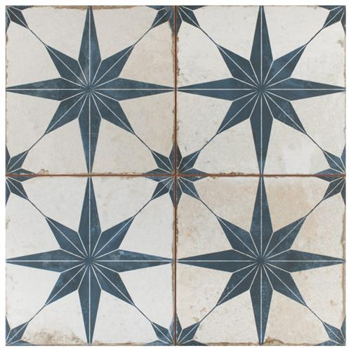 "Picture of Kings Star Blue 17-5/8""x17-5/8"" Ceramic F/W Tile"