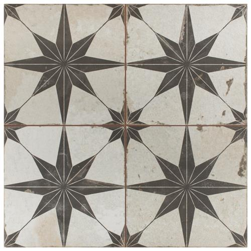 "Picture of Kings Star Nero 17-5/8""x17-5/8"" Ceramic F/W Tile"