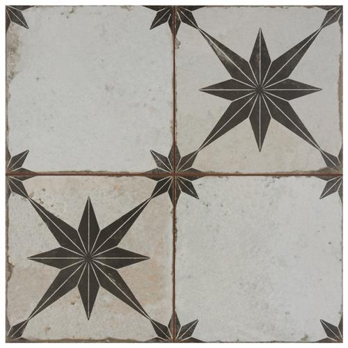 "Picture of Kings Star Ara Nero 17-5/8""x17-5/8"" Ceramic F/W Tile"
