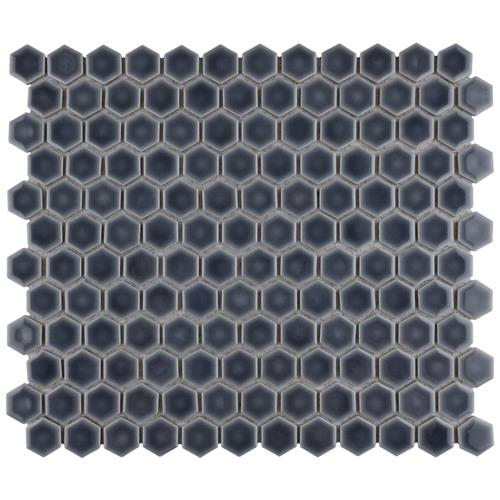 "Picture of Hudson Hex 1"" Storm Grey 13-1/4""x11-7/8"" Porcelain Mosaic"