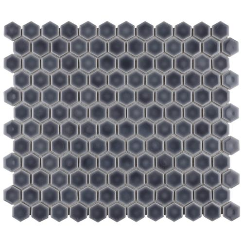 "Picture of Hudson Hex 1""  Imperial Grey 13-1/4""x11-7/8"" Porc Mosaic"