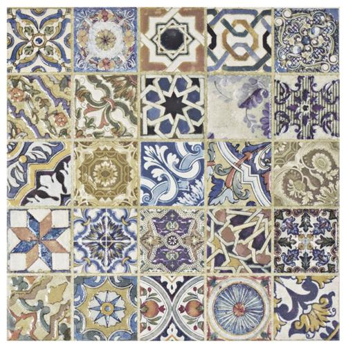 Picture of SomerTile Avila Arenal Decor 12-1/2 in. x 12-1/2 in. Ceramic Floor and Wall Tile