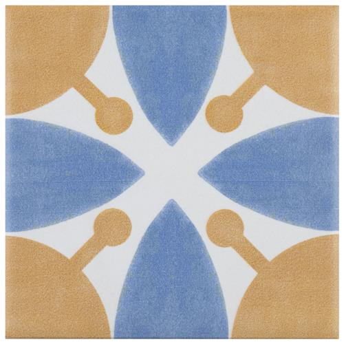 "Picture of Revival Leaf Mini 4""x4"" Ceramic Floor/Wall Tile"