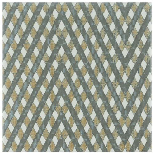 "Picture of Boheme Grid 7-3/4""x7-3/4"" Ceramic F/W Tile"