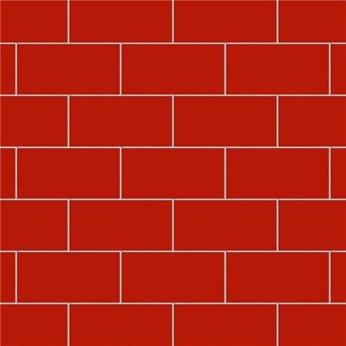 "Picture of Projectos Vermelho Matte 3-7/8""x7-3/4"" Ceramic F/W Tile"
