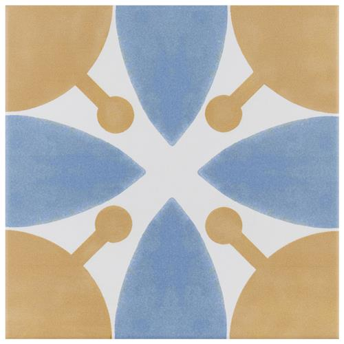 "Picture of Revival Leaf 7-3/4""x7-3/4"" Ceramic F/W Tile"