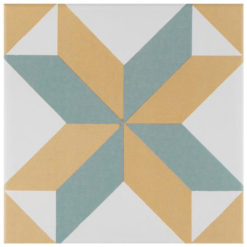 "Picture of Revival Pattern 7-3/4""x7-3/4"" Ceramic F/W Tile"