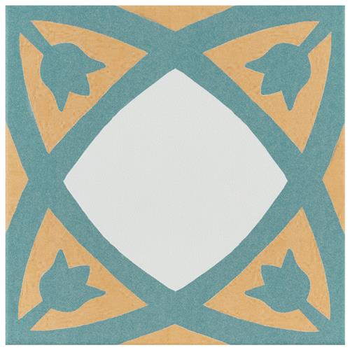 "Picture of Revival Tulip 7-3/4""x7-3/4"" Ceramic F/W Tile"