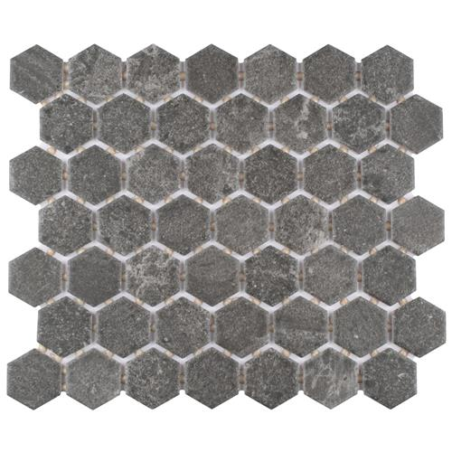 "Picture of Liverpool Hex Dark Grey 10 1/4""x11 3/8"" Ceramic Floor/Wall T"