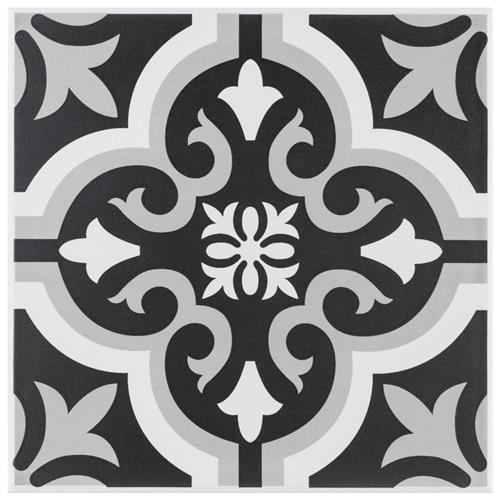 "Picture of Braga Classic II 7 3/4"" x 7 3/4"" Ceramic F/W Tile"