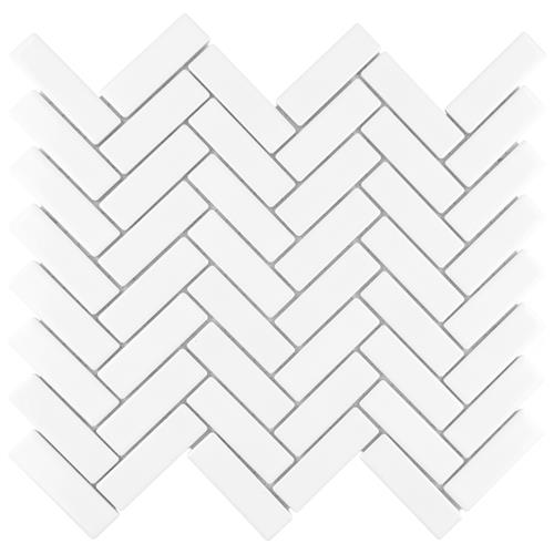 "Picture of Metro Brick Herringbone Glossy White 10-5/8""x12-1/2"" P"