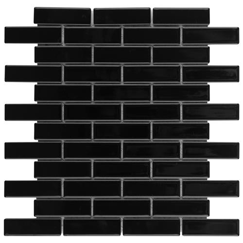 "Picture of Metro Brick Subway Glossy Bk 11-1/2"" x 11-3/4"" Porcelain M"