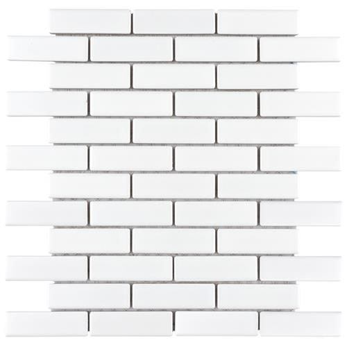 "Picture of Metro Brick Subway Matte White 11-1/2"" x 11-3/4"" Porcela"