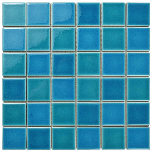 "Picture of Island Crackle Hawaii Blue 11-7/8""x11-7/8"" Porcelain Mos"