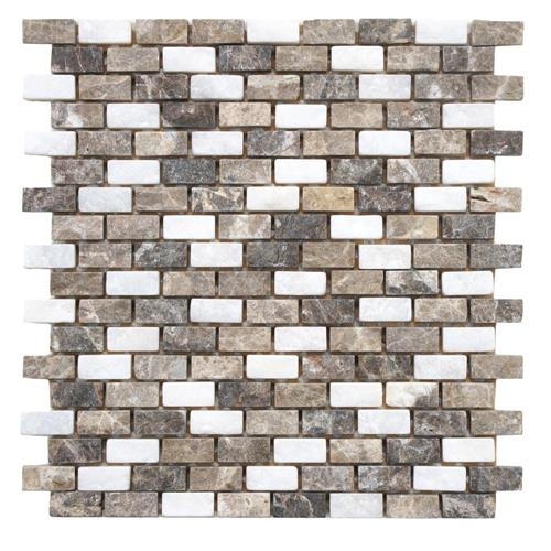 "Picture of Griselda Subway Sand 12""x12"" Nat Stone Mos"