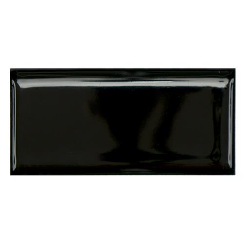 "Picture of Metro Glossy Blk 1-3/4""x3-3/4"" Porcelain Bullnose F/W Trim"