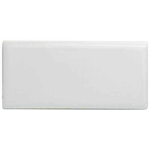 "Picture of Metro Glossy White 1-3/4""x3-3/4"" Porcelain Bullnose F/W Trim"