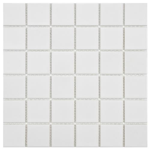 "Picture of Boreal Quad Glossy White 11-7/8""x11-7/8"" Porcelain Mos"