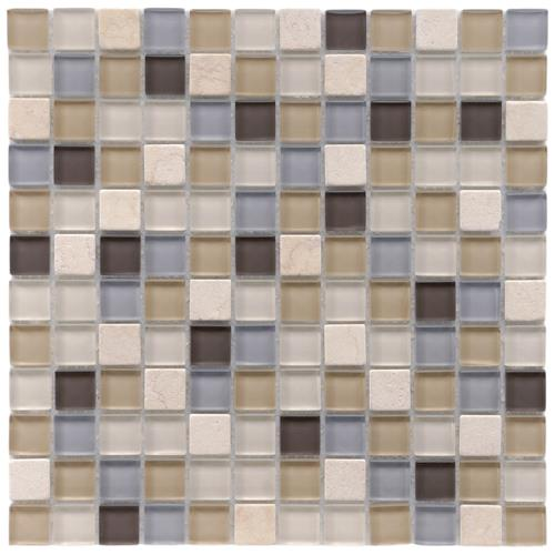 "Picture of Tessera Square River 11-5/8""x11-5/8"" Gl/Stone Mos"