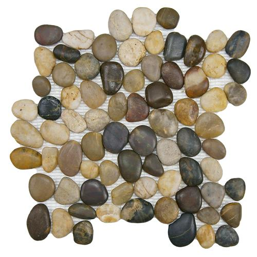 "Picture of Riverstone Multi 11-3/4""x11-3/4"" Nat Stone Mos"