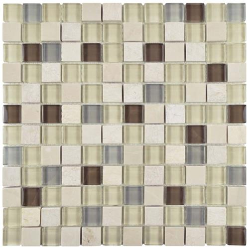 "Picture of Tessera Square York 11-5/8""x11-5/8"" Gl/Stone Mos"