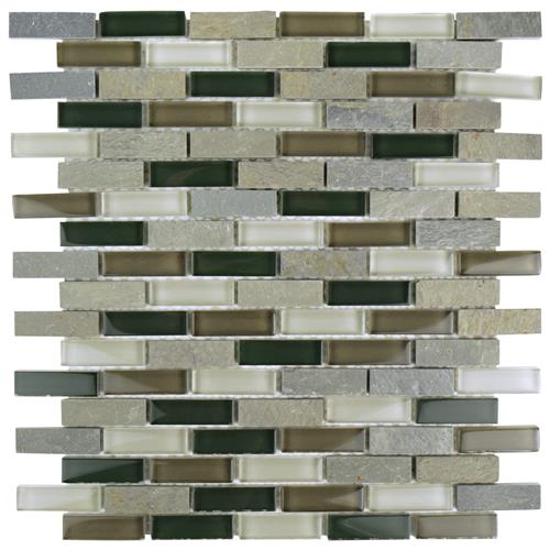 "Picture of Tessera Subway Stonehenge 10-3/4""x11-3/4"" Gl/Stone Mos"