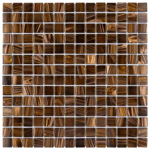 "Picture of Coppa Brown Gold 12""x12"" Glass Mos"