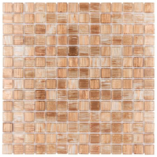 "Picture of Coppa Tan Gold 12""x12"" Glass Mos"