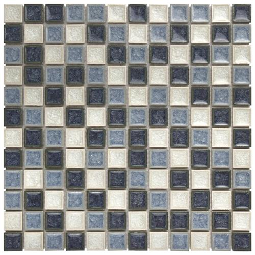 "Picture of Crackle Sq Azure Mix 11-5/8""x11-5/8"" Cer/Glass Mos"