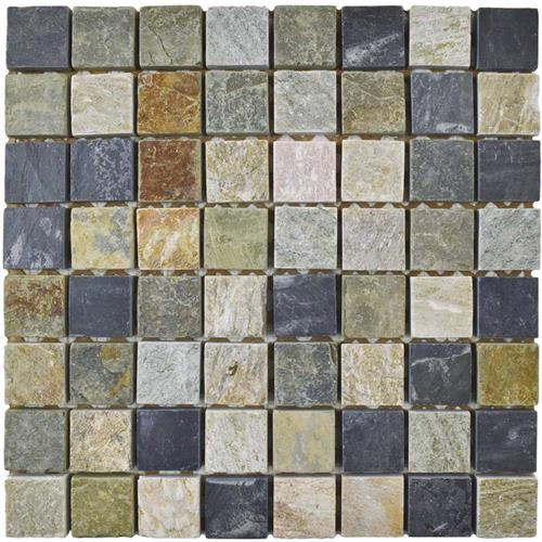 "Picture of Crag Square Multi Grey 11-3/4""x11-3/4"" Slate Mos"