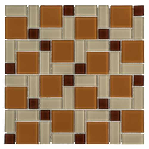 "Picture of Spectrum Block Suntan 11-3/4""x11-3/4"" Glass Mos"