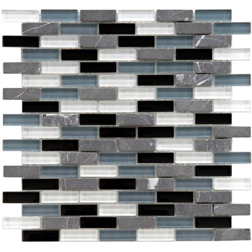 "Picture of Tessera Subway Tuxedo 11-3/4""x11-3/4"" Gl/Stone Mos"