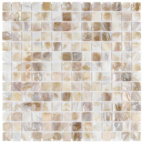 "Picture of Conchella Square Natural 12""x12"" Nat Seashell Mos"