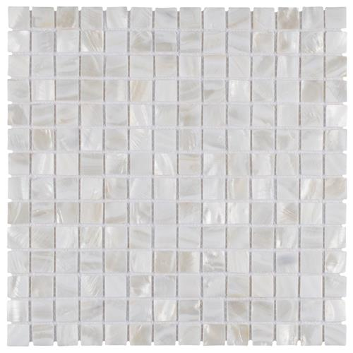"Picture of Conchella Square White 12""x12"" Nat Seashell Mos"