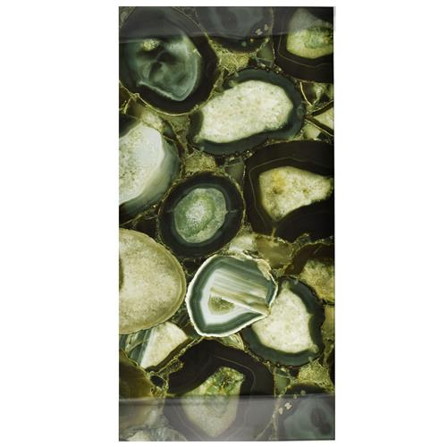 "Picture of Fossil Panorama Geode Verde 11-3/4""x23-3/4"" Glass W Tile"