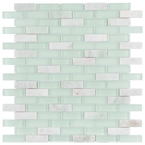 "Picture of Tessera Subway Ming 10-3/4""x11-3/4"" Gl/Stone Mos"
