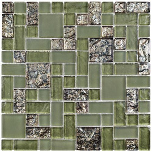 "Picture of 11-3/4"" x 11-3/4"" Tessera Versailles Ranier Glass Mosaic"