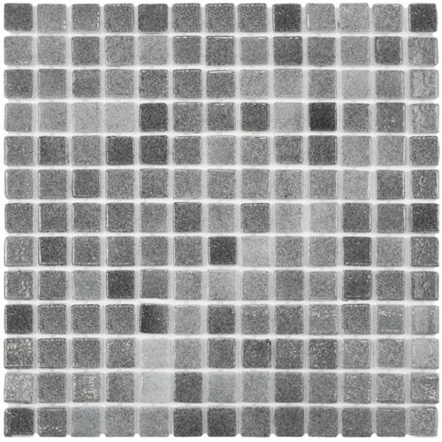 "Picture of Ruidera Square Gris 13""x13"" Glass Mos 021825Y"
