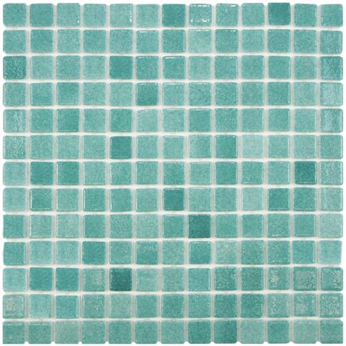 "Picture of Ruidera Square Niebla Azul 13""x13"" Glass Mos 020225Y"