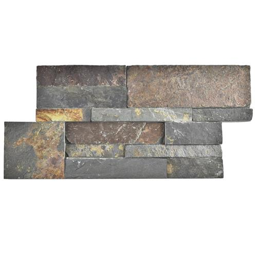 "Picture of Ledger Panel Rusty Slate 7""x13-1/2"" Nat Stone W Tile"