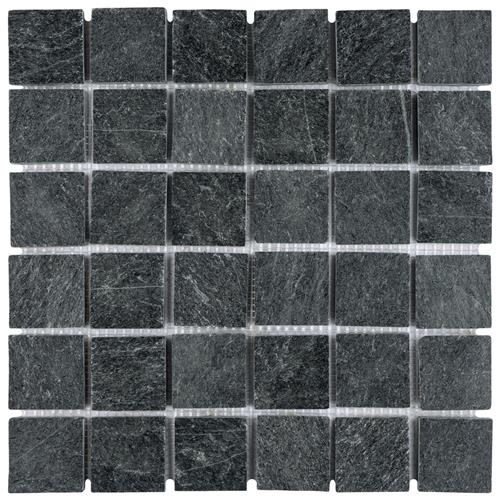 "Picture of Crag Quad Black Quartzite 12""x12"" Nat Stone Mos 009"
